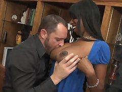 Sensual sex with ebony MILF