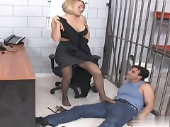 Female dungeon guards are often on a major power trip