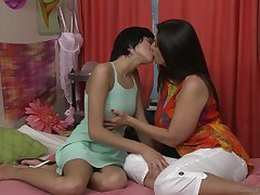 Young brown Cadey Mercury'll not ever exile oneself first sapphist sex with busty babe