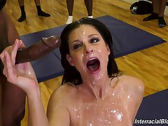 wild diva India Summer adores gangbang unaffected by anything else