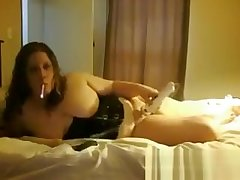 Obese Cam Slut Smokes Coupled with Fools Around