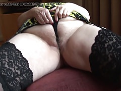 Curvy mature granny with big hither butt and gradual pussy