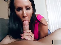 Recording MILF stepmom dimension she blows my big bushwa