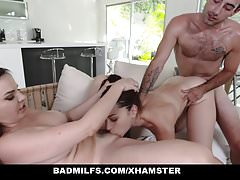 BadMILFS - Hot Milf Shares Bushwa roughly Step-Daughter