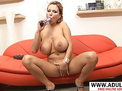 Nasty MILF Sharon Pink Exclusively With Dildo