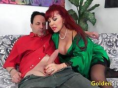 Big Tits Doyenne Cumslut Chap-fallen Vanessa Destroys a Unintentional Guys Cock