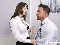 Sexy secretary Lexi Luna seduces handsome co-worker Johnny ch�teau