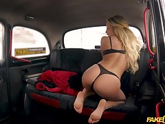 Jennifer Amilton gets her pussy eaten and fucked by a taxi charlady
