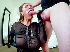 Gagged Asian mature swallows after a sinful be thrilled by