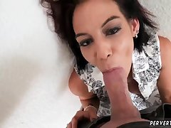 Mam anal dildo solo increased by step fucked on couch first time