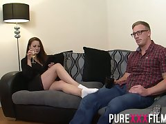 Having seduced nerdy dude Romanian nympho Lara Jade Deene enjoys riding flannel