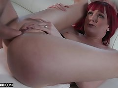 Redhead loads pussy with a lot be fitting of fuming cock