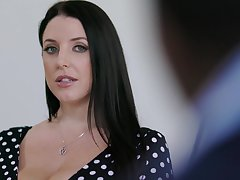Chubby housewife with huge bowels Angela White loves riding strong cock