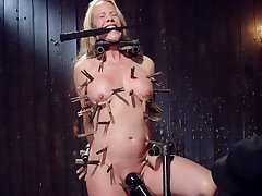 Nude busty mature hurt and dominated all over toto clamping BDSM