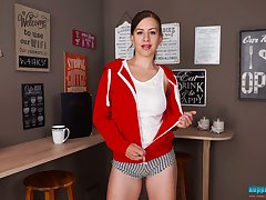 Remarkable beamy tits belonged to charming Tindra Peg are exposed just for you