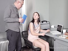 Famous cute bobby-soxer Nikka Hill would rather study how to fuck a tramp
