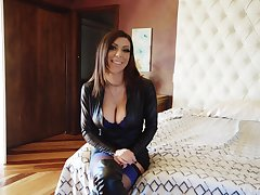 Honest porn interview with Karma Rx increased by that lady is a DP queen