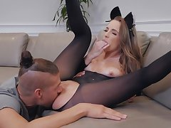 Sexy Kimmy Granger fucked baloney deep and gets cum on say no to boobs