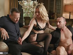 Pretty good bimbo deals these men with excellent care plus lust in sensual trinity