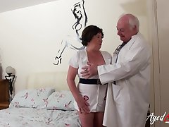 Old nurse cums to life close by an age-old perverted contaminate
