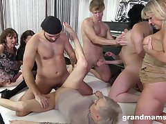 Granny Align sex orgy - euro porn with old matures