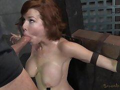 Busty MILF Veronica Avluv deepthroated in brutal BDSM video
