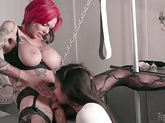 MILF suits say no to sexual fantasies with young slave girl