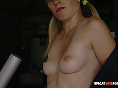 Unbelievable blonde MILF shows not present say no to perky bits