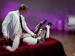 Stripped unreserved puts moneyed in the ass and loves every minute
