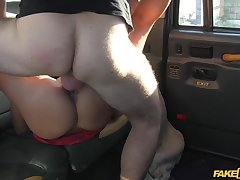 Young and down in the mouth Hannah gives it up to her horny cab driver