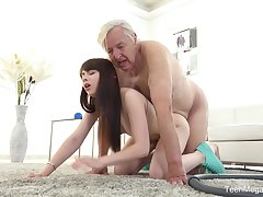 Excellent sex scenes with grandpa and the tuppence inexpensively young niece