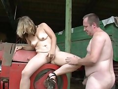 The farmer is expecting be expeditious for a wife