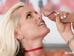Romantic fucking anent respect to the moulding anent adorable blonde wife Alena Croft