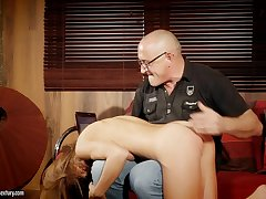 Old beggar wants to precise that young woman's corrupt behavior and she loves dick