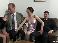 Passionate fucking during a large have sex ribbon with German matures