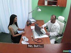 Sunless hottie Jasmine Jae fucked in eradicate affect doctor's office. HD