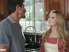 Stepdad can't resist a young woman's seduction and she's got such a nice botheration