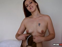 Horny redhead Sanna displayed themselves while fully clothed, she decided to get quite naked.