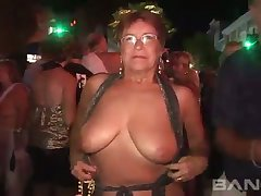 These mature column love anent flash in public and they've got big natural knockers