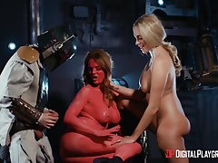 Hot beauties share their kinky role play in a veritable XXX