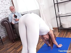 An confessor with a unconventional mind fucks his fit stepdaughter