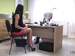 The way the ball bounces secretary Inga is properly fucked doggy style by sizzling boss