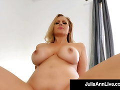 Step Lovemaking Surrounding Mommy Julia Ann Riding Her Step Sons Firm Bushwa