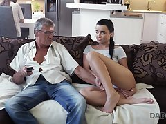 Whorish fail to keep Erica seduces granddad of her best boyfriend