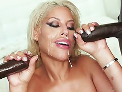 Blonde wife Bridgette B. gets double penetrated by two black dudes
