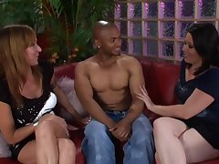 Sulky guy shows off his cock thither Kaicee Marie and Katie Raymond