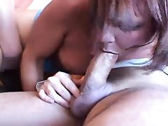 Matured second-rate milf having gangbang connected with creampie