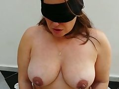 Submissive gaffer chubby wife in black stockings deserves some punishment