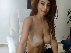 Big boobs redhead babe webcam show