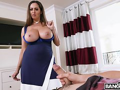 Wild riding in cowgirl by busty adult mommy Ava Addams. HD